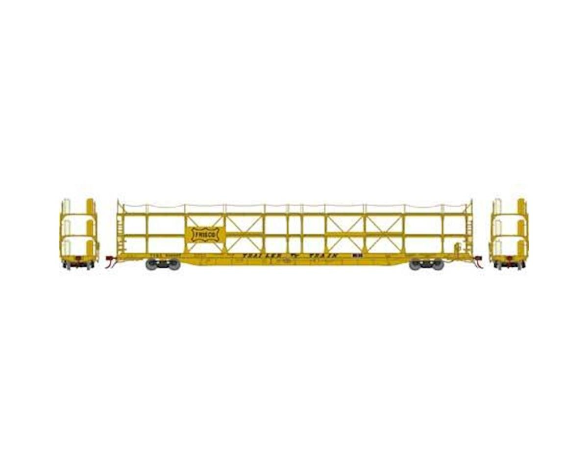 Athearn N F89-F Tri-Level Auto Rack, Frisco/TTRX #930997