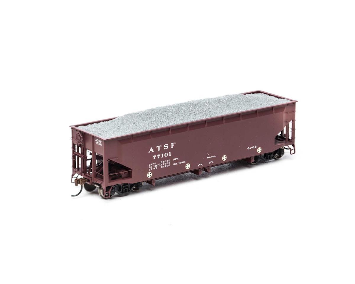 Athearn HO RTR 40' Offset Ballast Hopper w/Load, SF #77101
