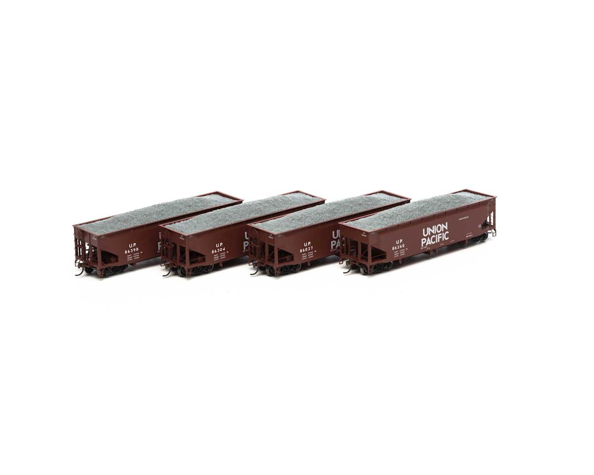 Athearn HO RTR 40' Offset Ballast Hopper w/Load, UP #1 (4)