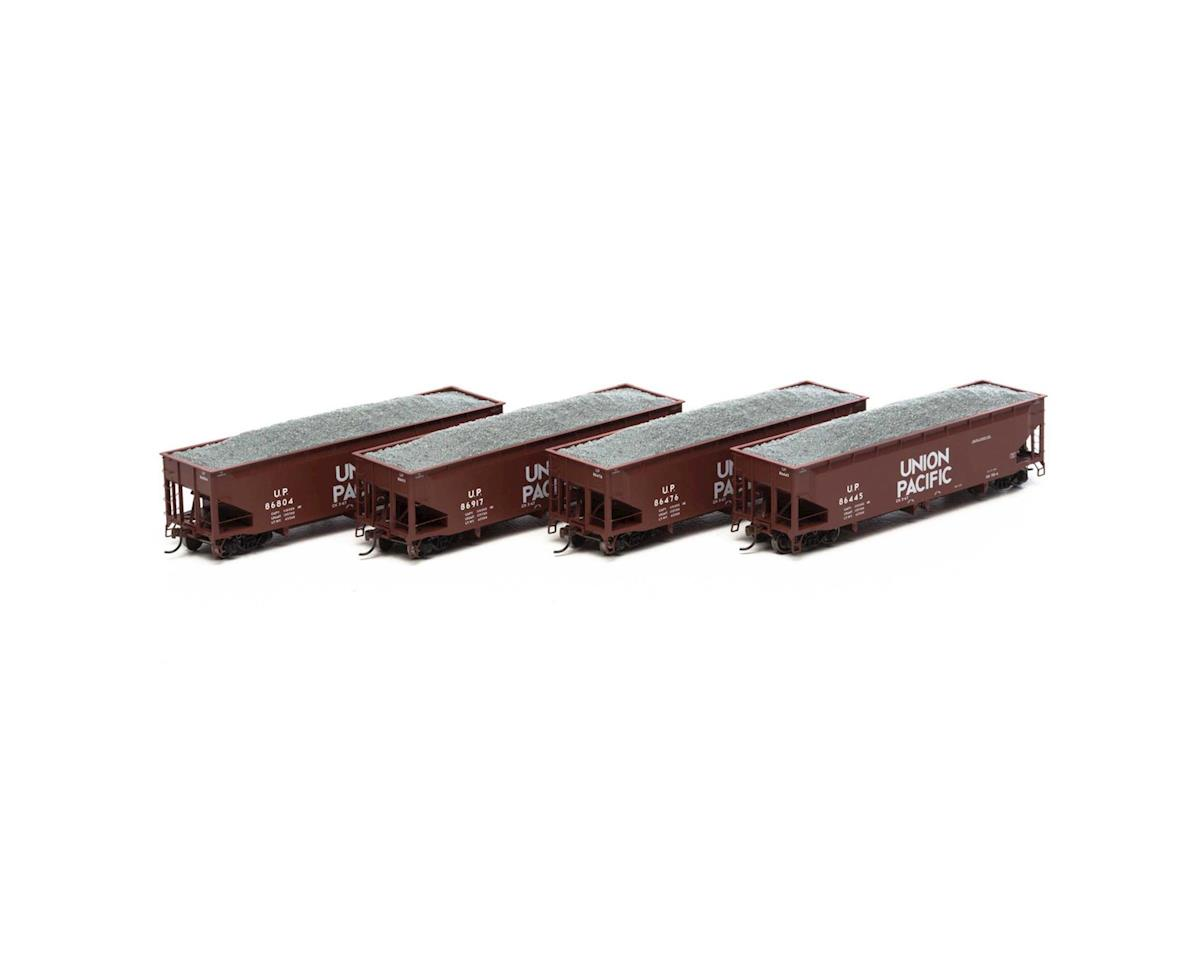 Athearn HO RTR 40' Offset Ballast Hopper w/Load, UP #2 (4)