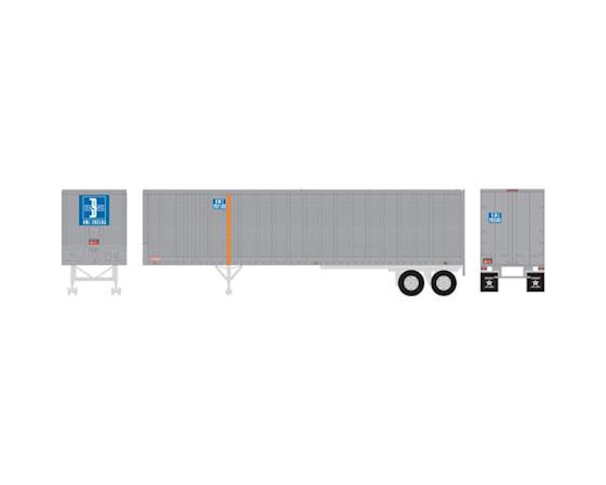 Athearn HO RTR 40' Fruehauf Z-Van Trailer, B&M #202193