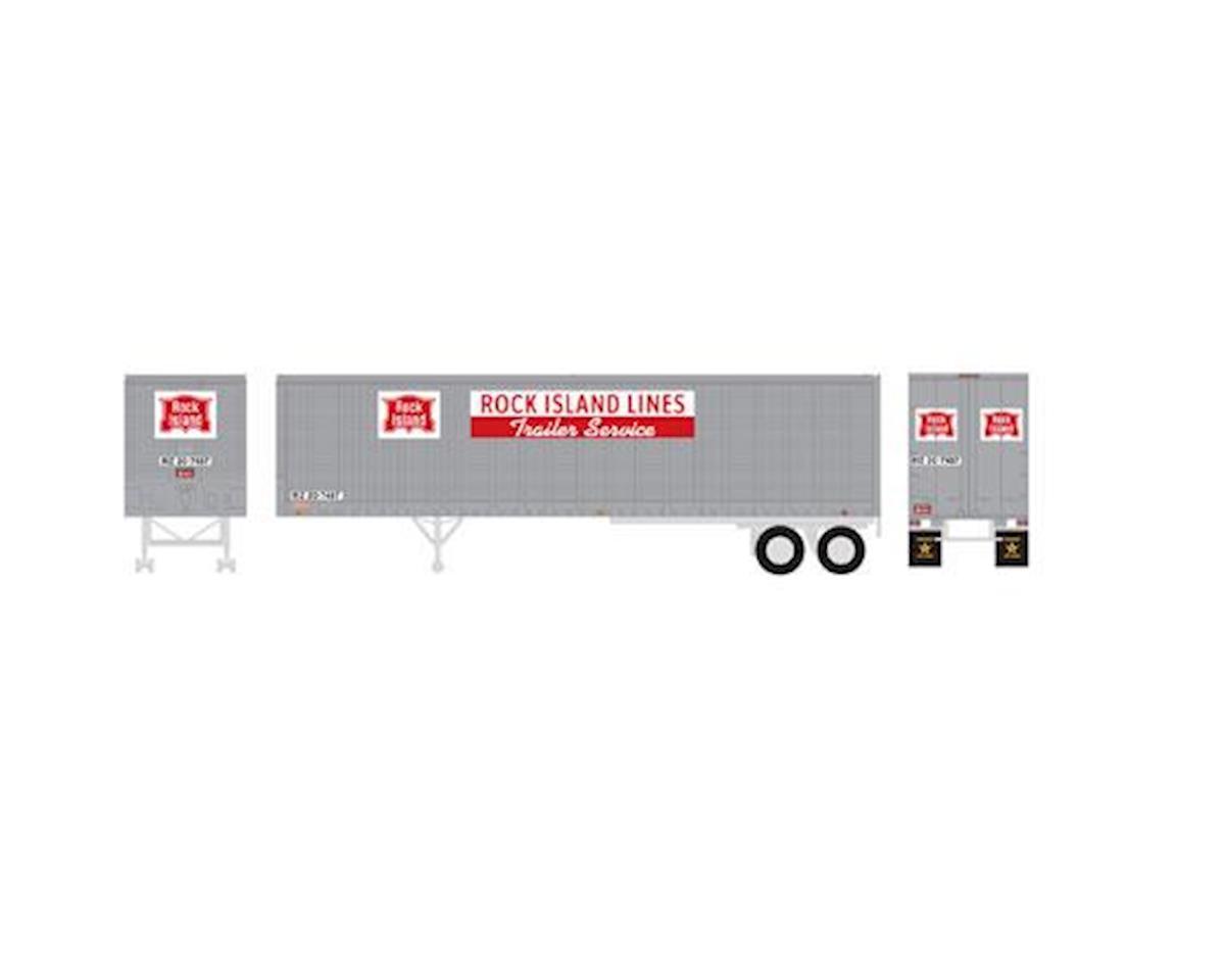 Athearn HO RTR 40' Fruehauf Z-Van Trailer, RI #20-7487