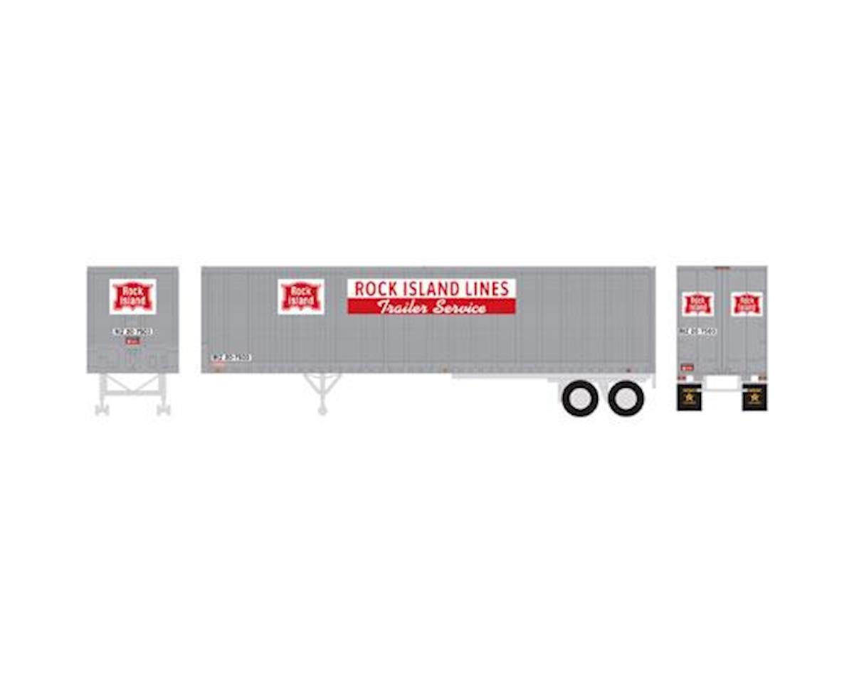 Athearn HO RTR 40' Fruehauf Z-Van Trailer, RI #20-7503