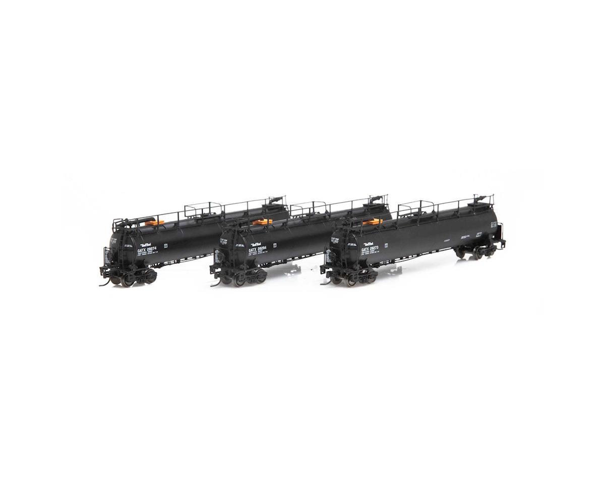 Athearn N TankTrain A/B & Intermediate Car, GATX/B-S-T
