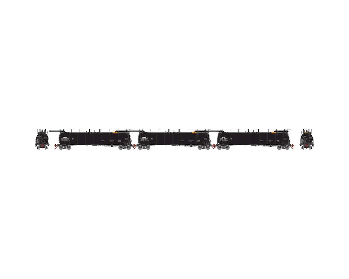 Athearn N TankTrain Intermediate, GATX/P-TT-L #1 (3)