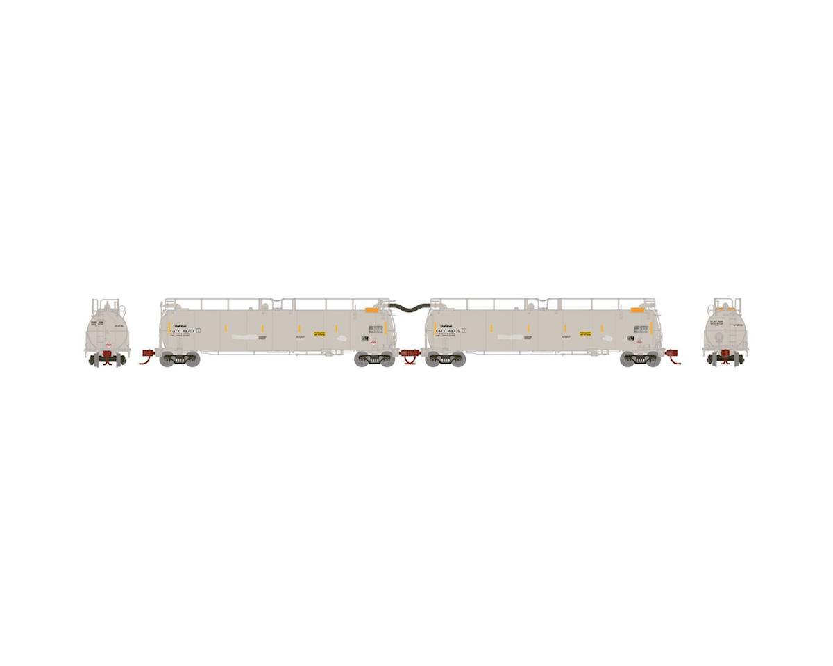 Athearn N TankTrain A/B Set, GATX/White #48701 #48735