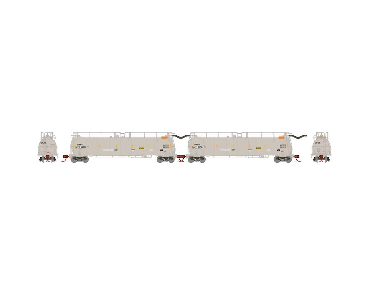 Athearn N TankTrain Intermediate, GATX/White #1 (2)