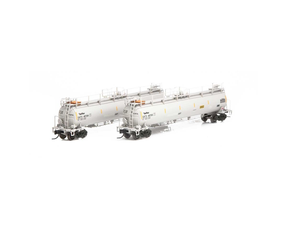 Athearn N TankTrain Intermediate, GATX/White #2 (3)