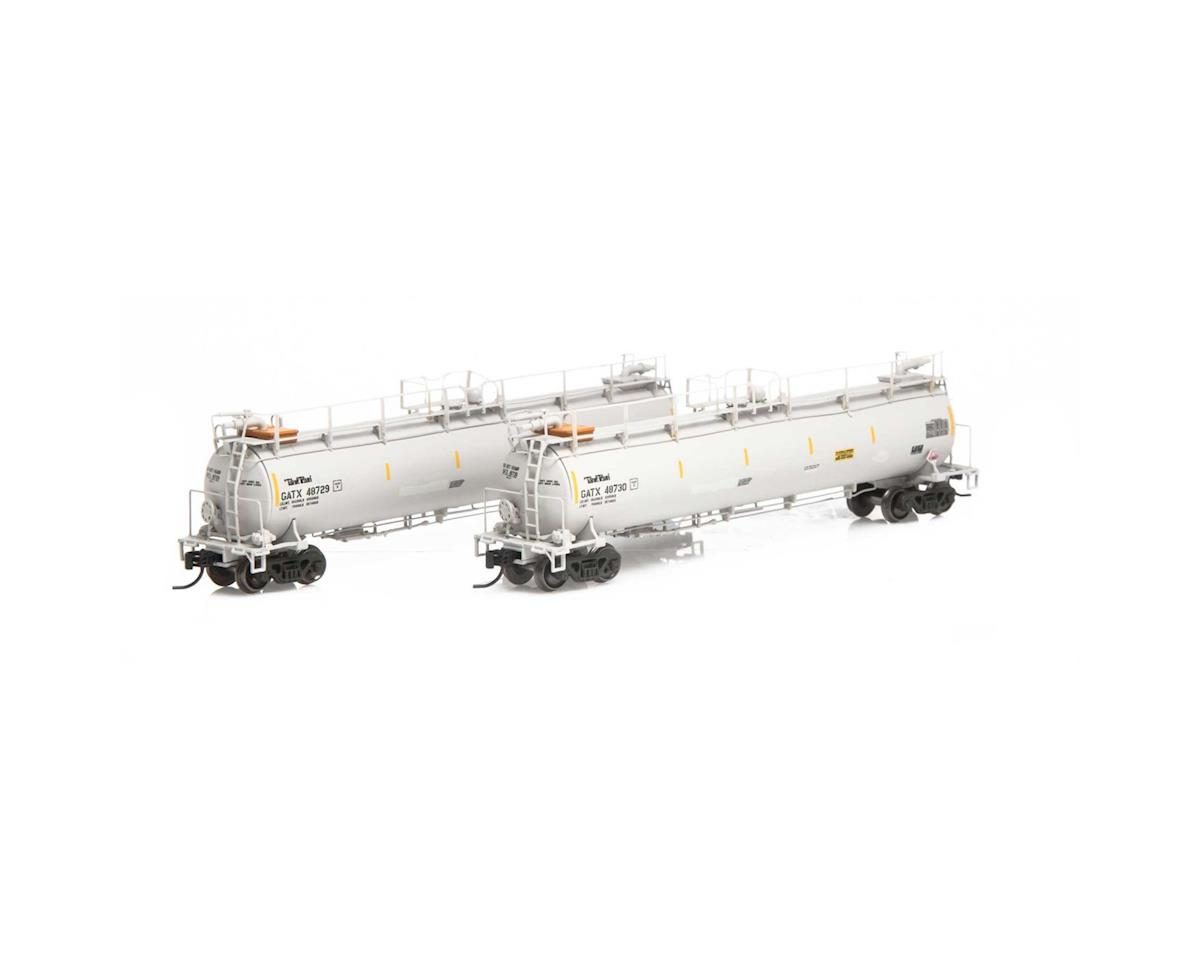 Athearn N TankTrain Intermediate, GATX/White #3 (3)