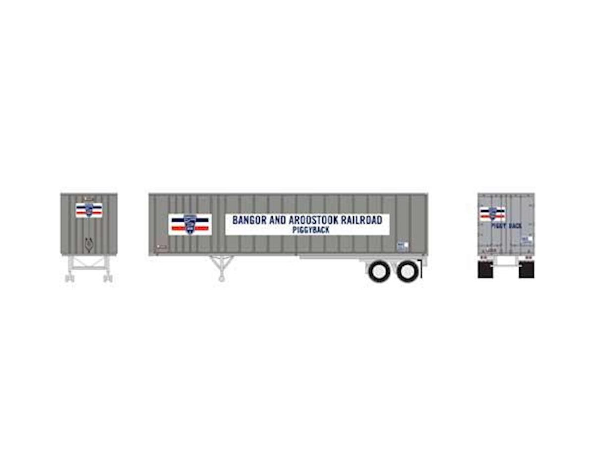 Athearn N 40' Exterior Post Trailer, BAR #201011
