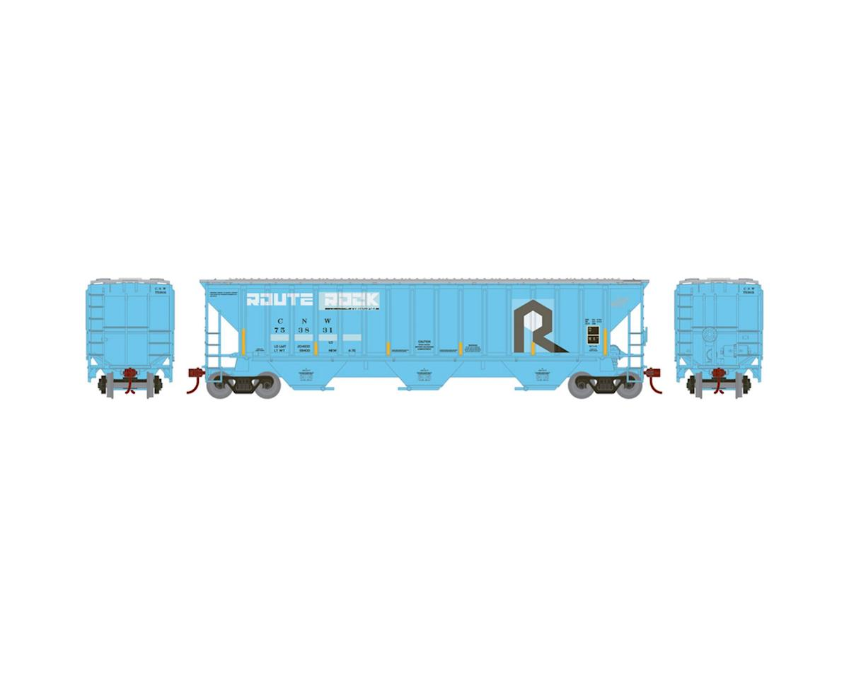 Athearn HO RTR PS 4740 Covered Hopper, C&NW/Ex-RI #753831