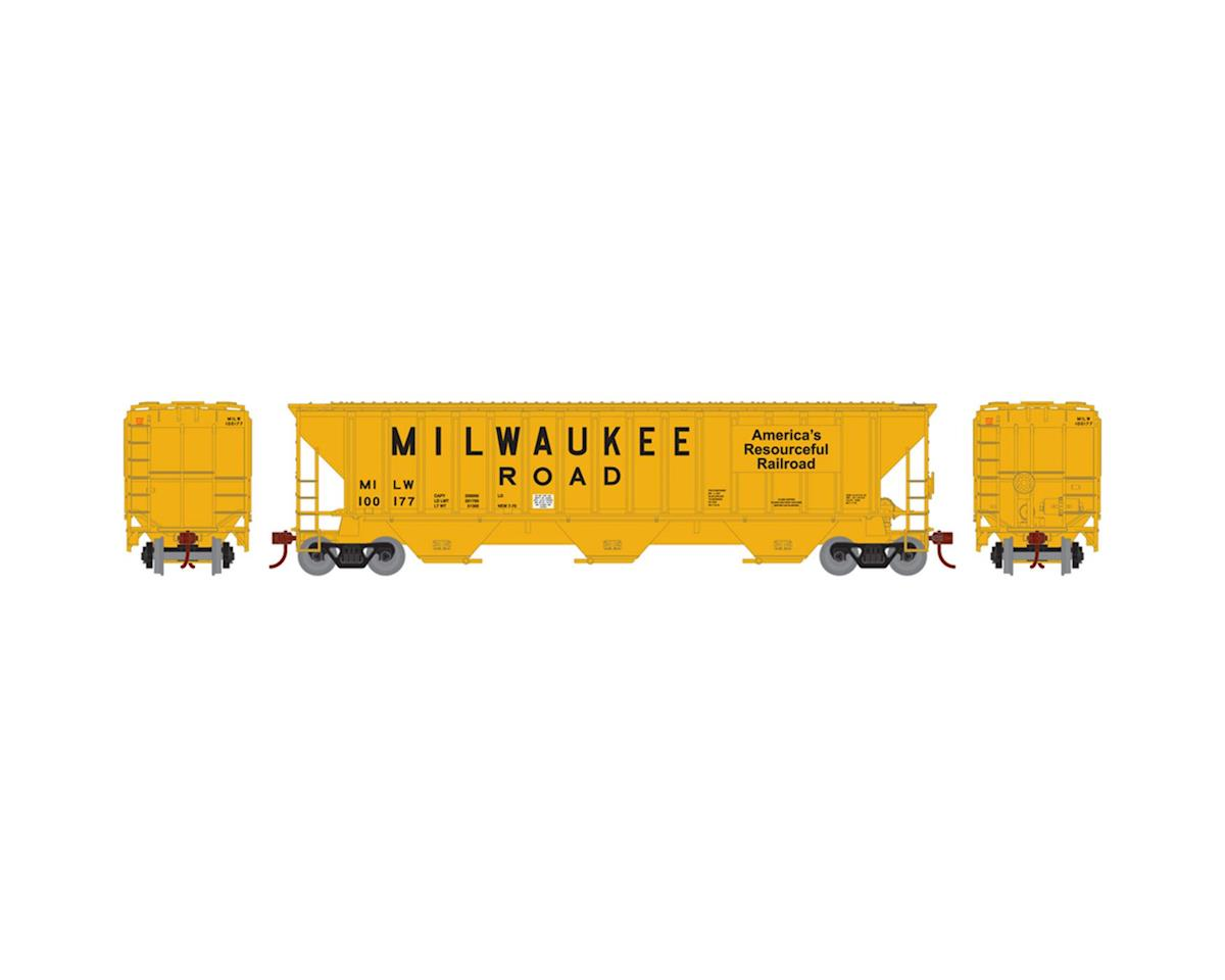 HO RTR PS 4740 Covered Hopper, MILW #100177 by Athearn
