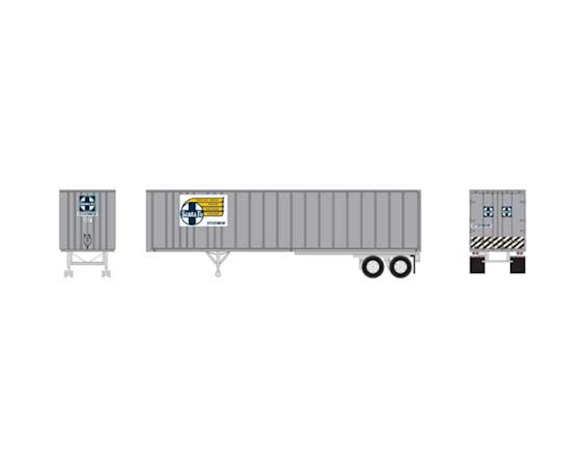 Athearn HO RTR 40' Exterior Post Trailer, SF #208202