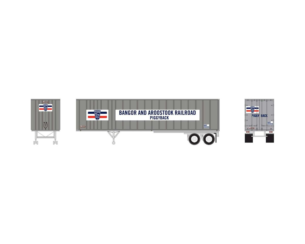 Athearn HO RTR 40' Exterior Post Trailer, BAR #201009