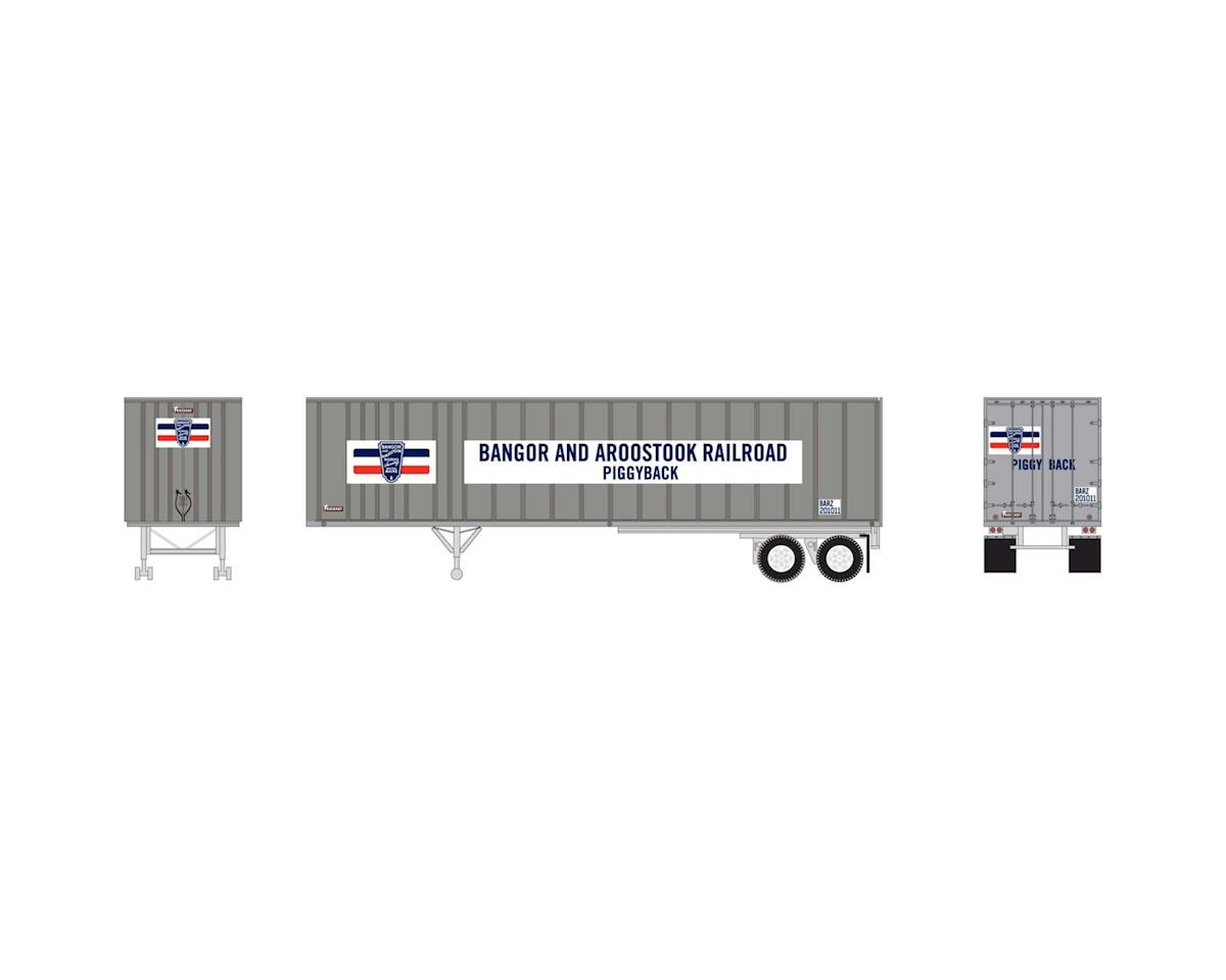 HO RTR 40' Exterior Post Trailer, BAR #201011 by Athearn