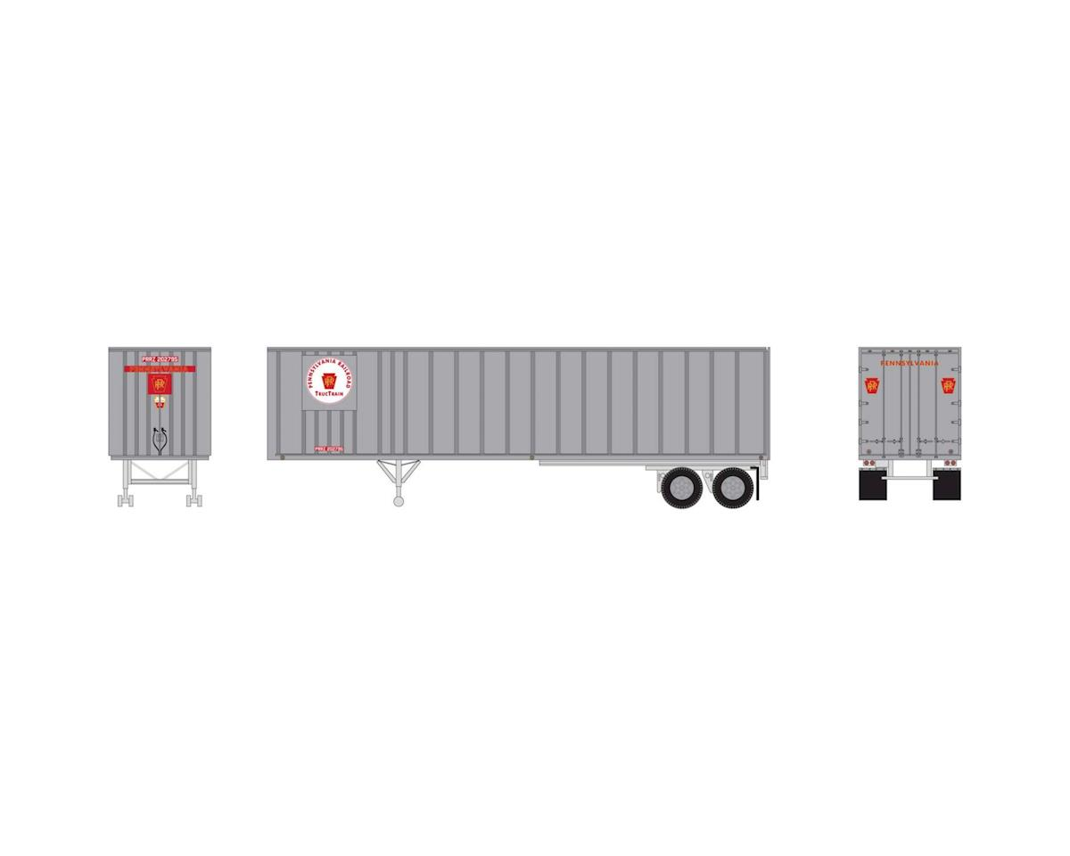 Athearn HO RTR 40' Exterior Post Trailer, PRR #202795