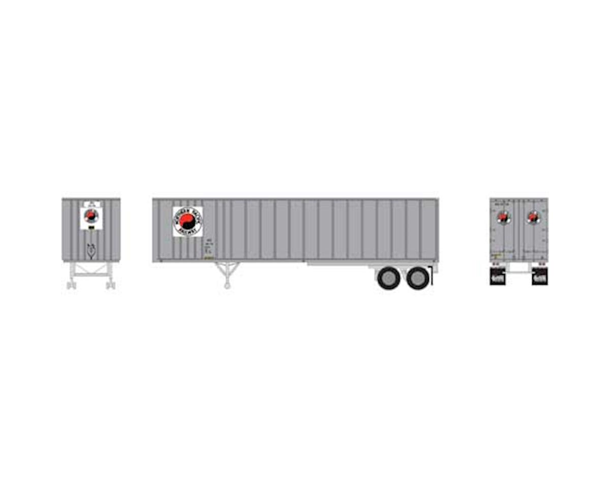 Athearn HO RTR 40' Exterior Post Trailer, NP #20-716