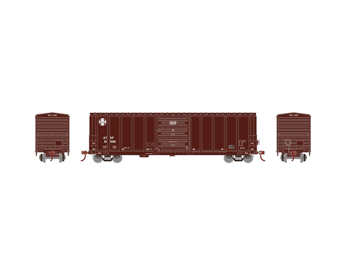 Athearn HO RTR 50' PS 5277 Box,SF/Brown/Small Cross #51585