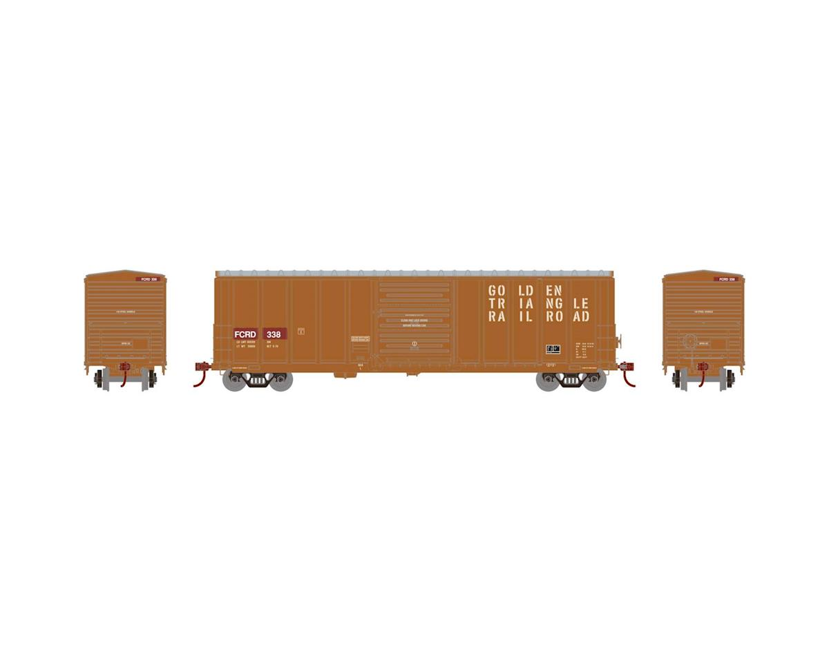 Athearn HO RTR 50' PS 5277 Box,FCRD/Ex-Golden Triangle#338