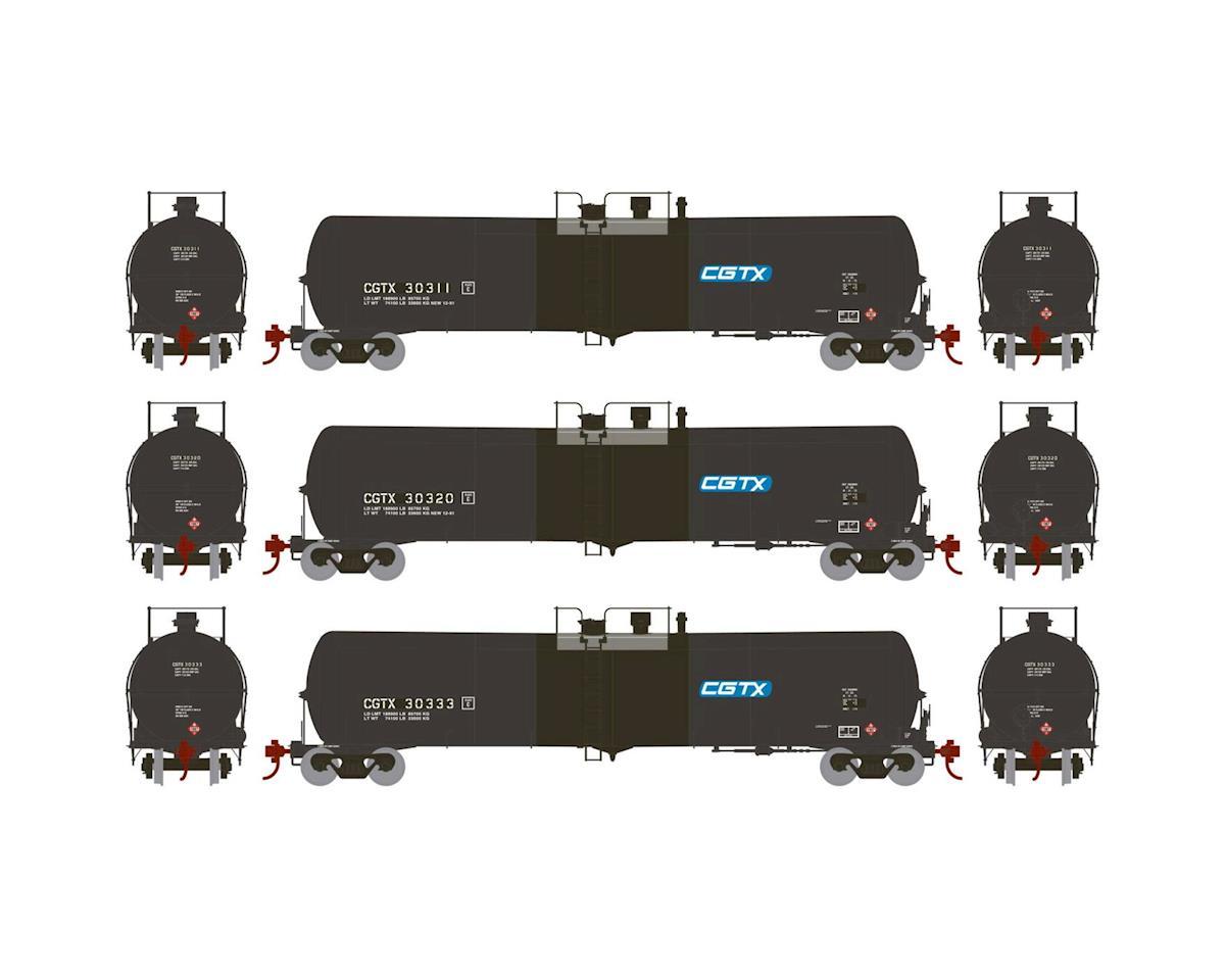 Athearn N 30,000 Gallon Ethanol Tank, CGTX #3 (3)