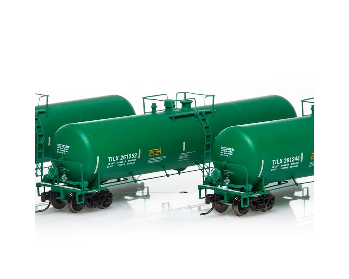 Athearn N 30,000 Gallon Ethanol Tank, TILX/Green #2 (3)
