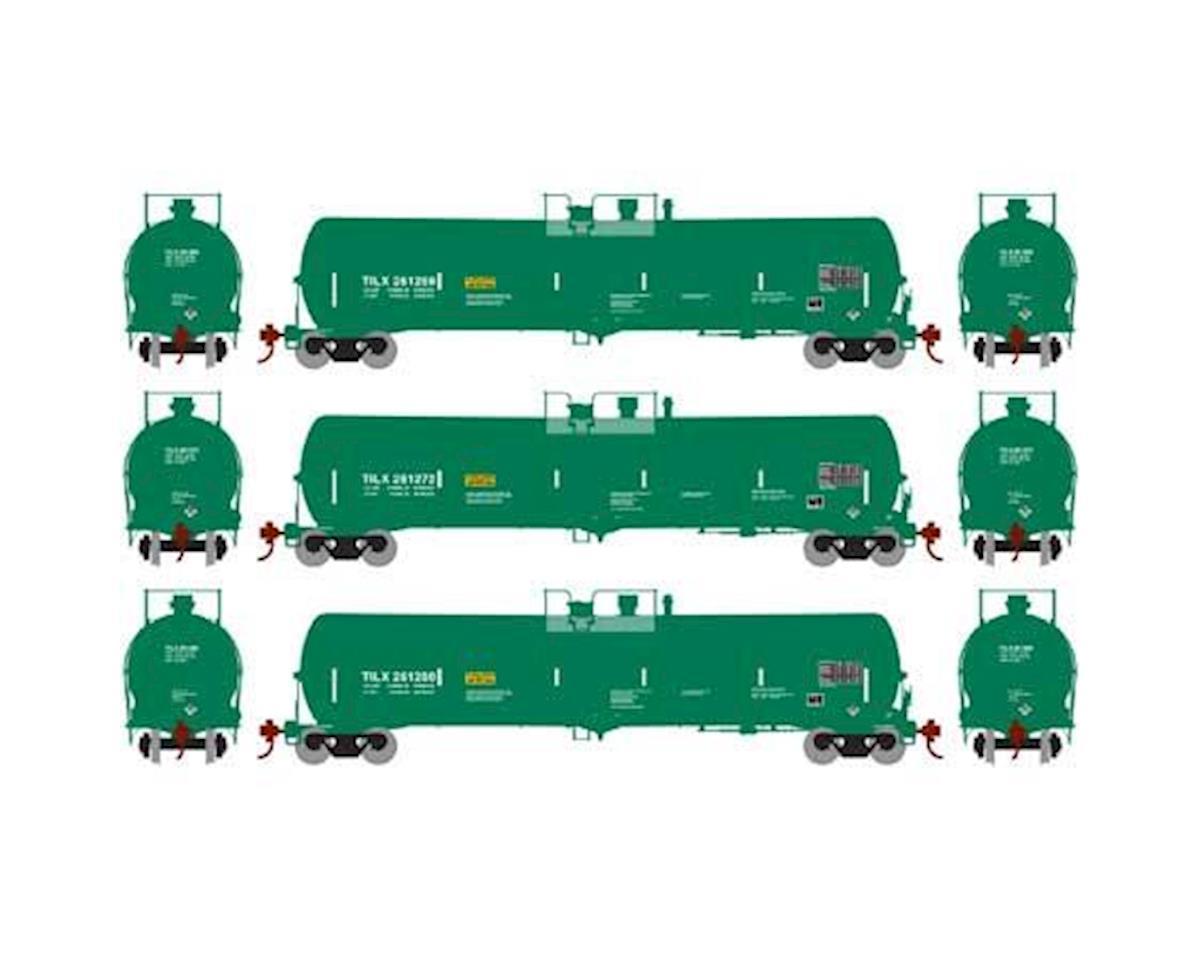 Athearn N 30,000 Gallon Ethanol Tank, TILX/Green #3 (3)