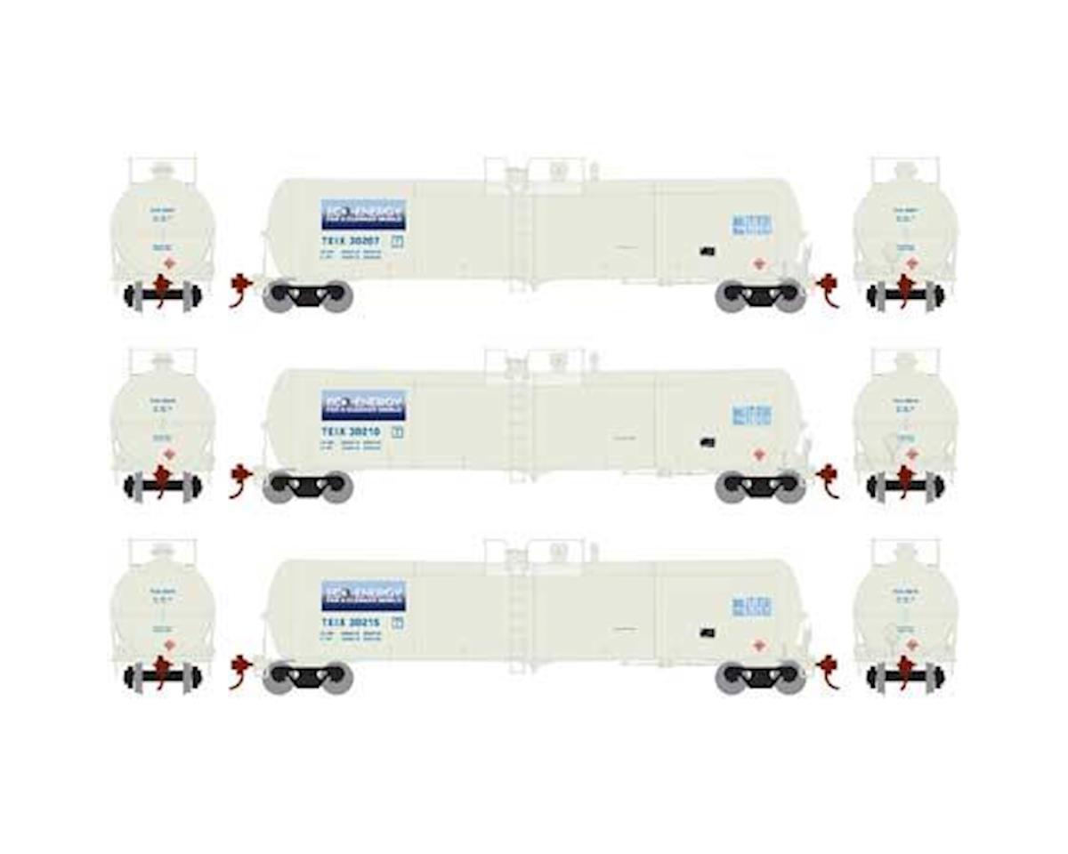 Athearn N 30,000 Gallon Ethanol Tank, TEIX/White #1 (3)