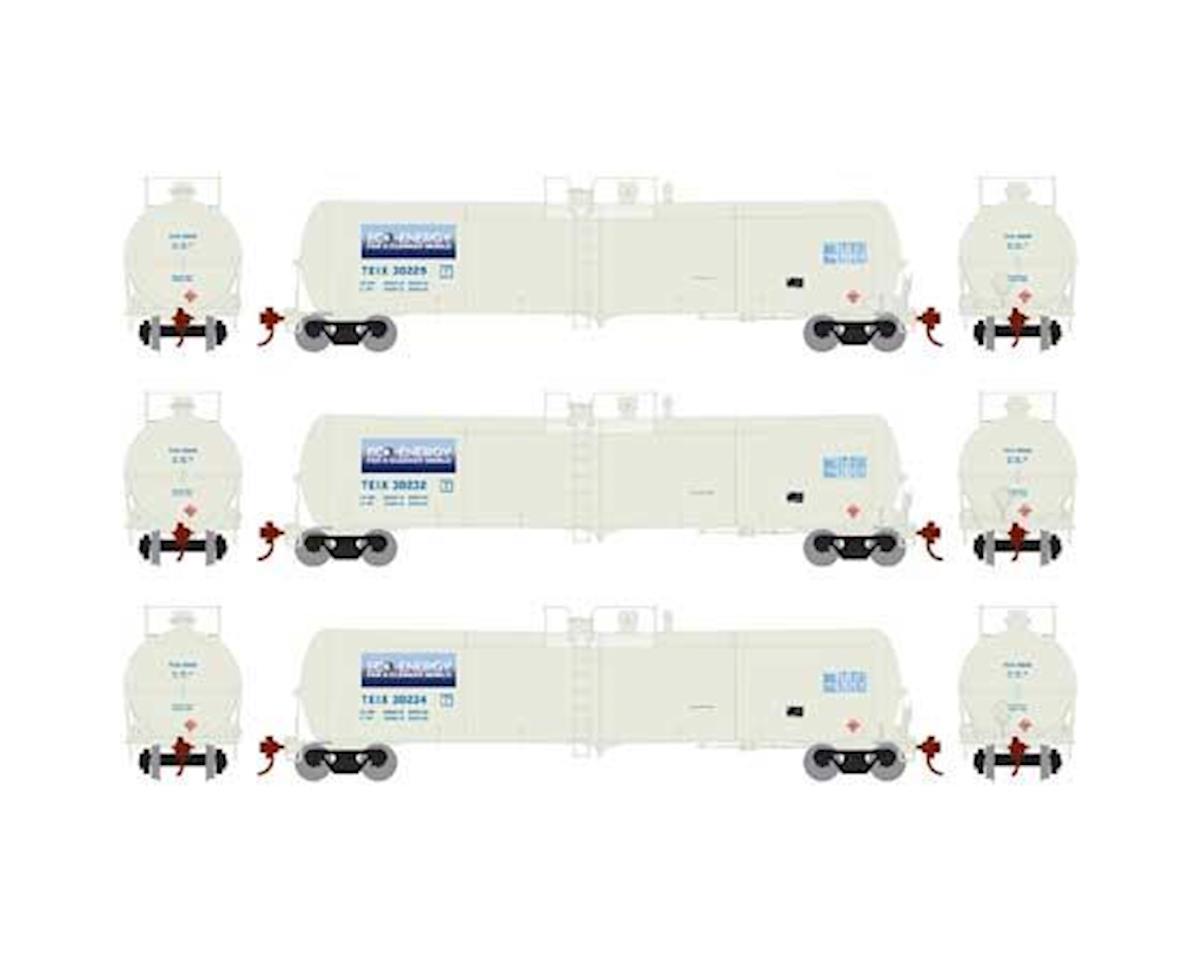 Athearn N 30,000 Gallon Ethanol Tank, TEIX/White #3 (3)