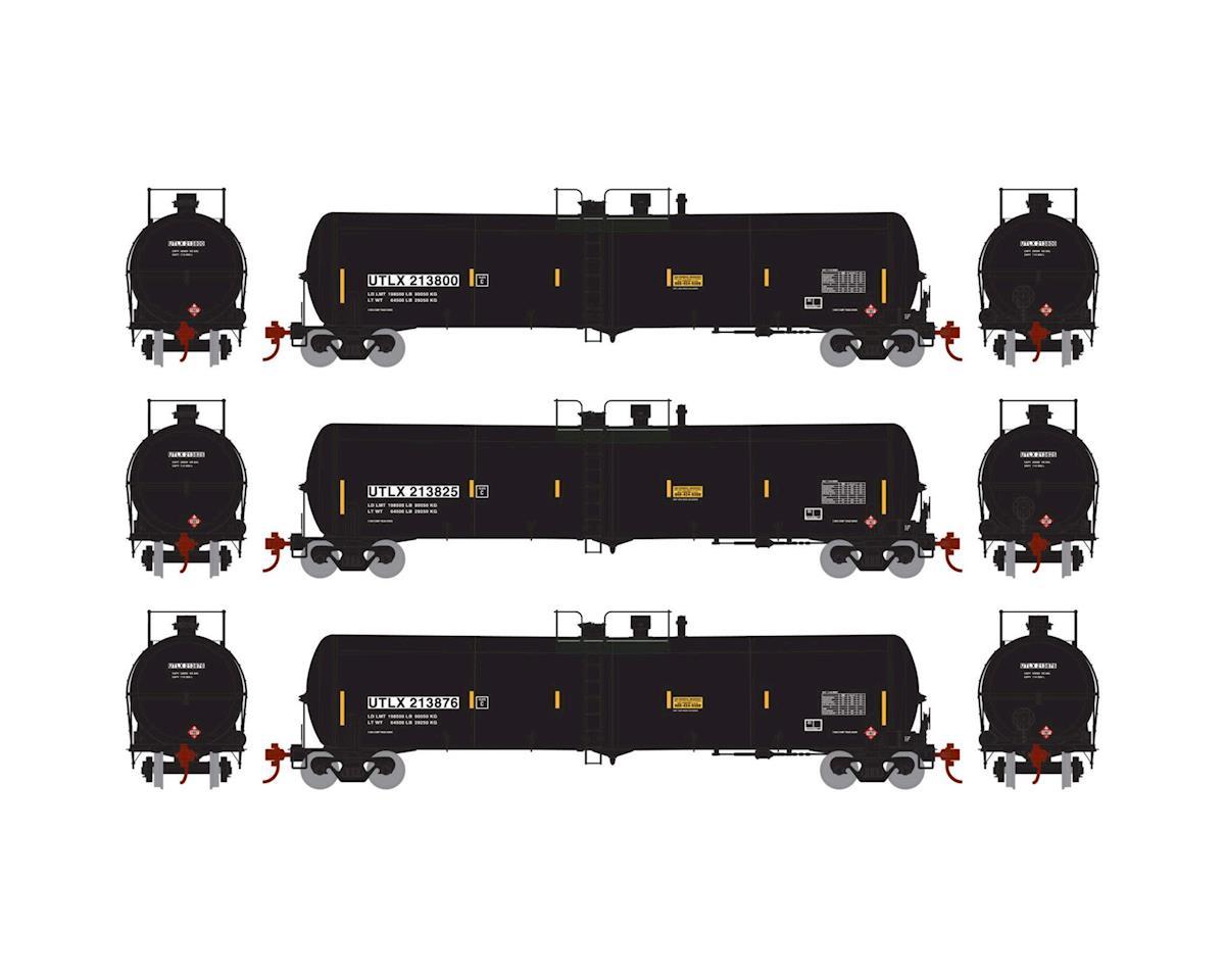Athearn N 30,000 Gallon Ethanol Tank, UTLX/Black #1 (3)