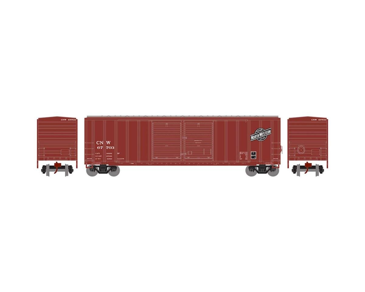 Athearn N 50' FMC Offset Double Door Box, C&NW #67703