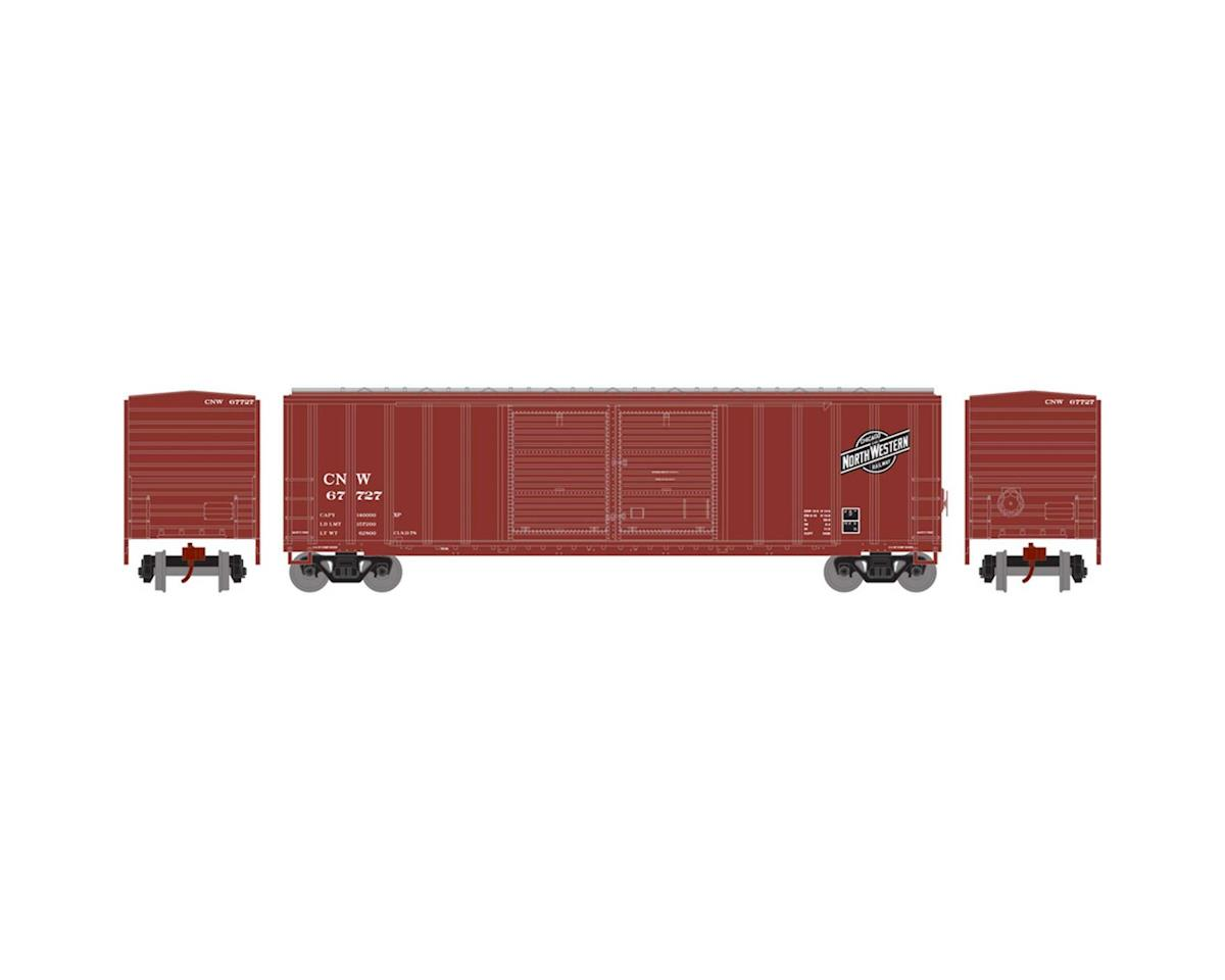 Athearn N 50' FMC Offset Double Door Box, C&NW #67727