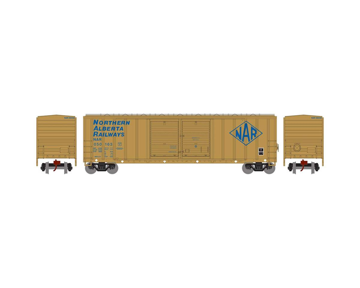 Athearn N 50' FMC Offset Double Door Box, NAR #050163