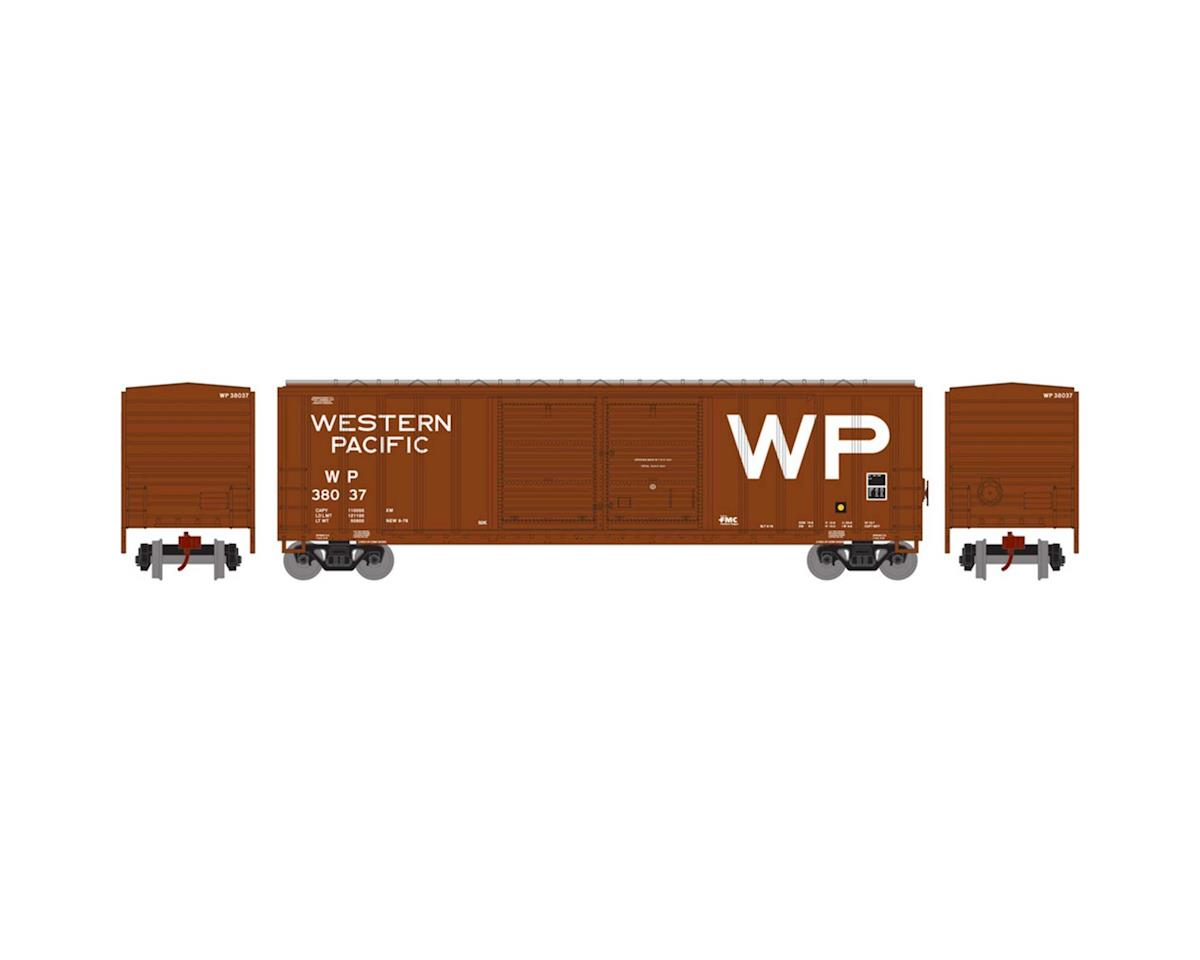 Athearn N 50' FMC Offset Double Door Box, WP #38037