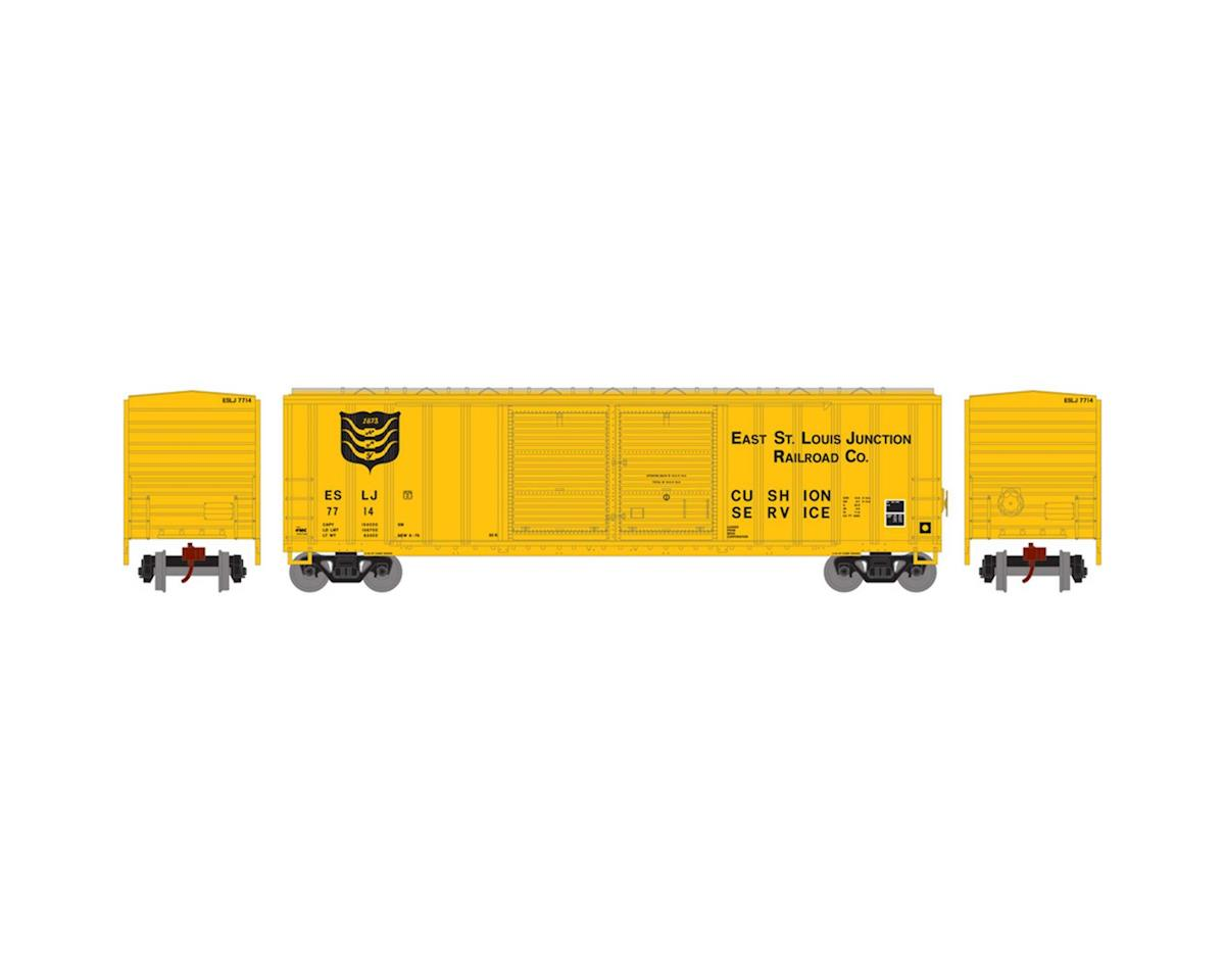 Athearn N 50' FMC Offset Double Door Box, ESLJ #7714