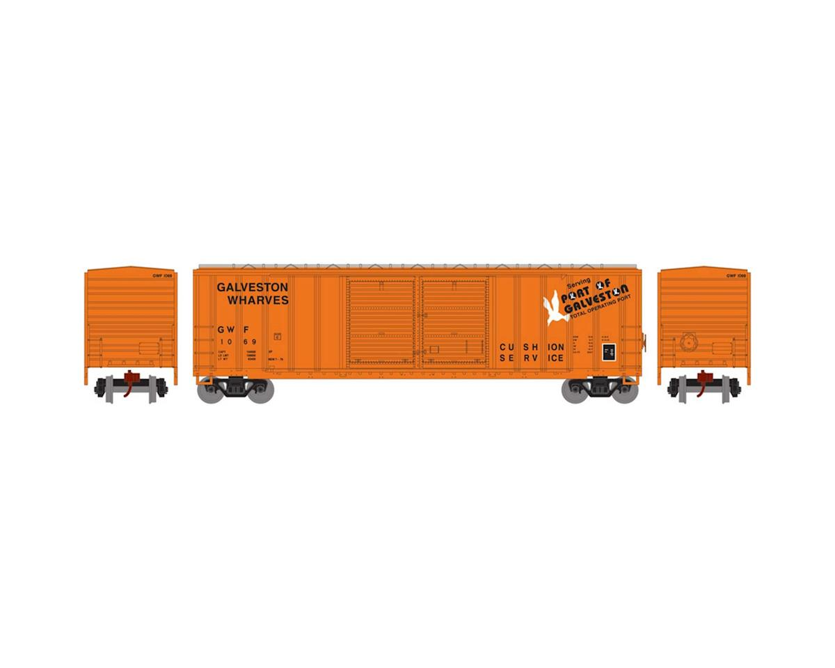 Athearn N 50' FMC Offset Double Door Box, GWF #1069