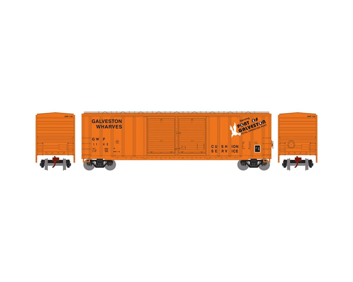 Athearn N 50' FMC Offset Double Door Box, GWF #1142