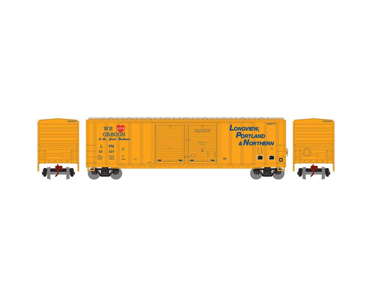 Athearn N 50' FMC Offset Double Door Box, LP&N #52027