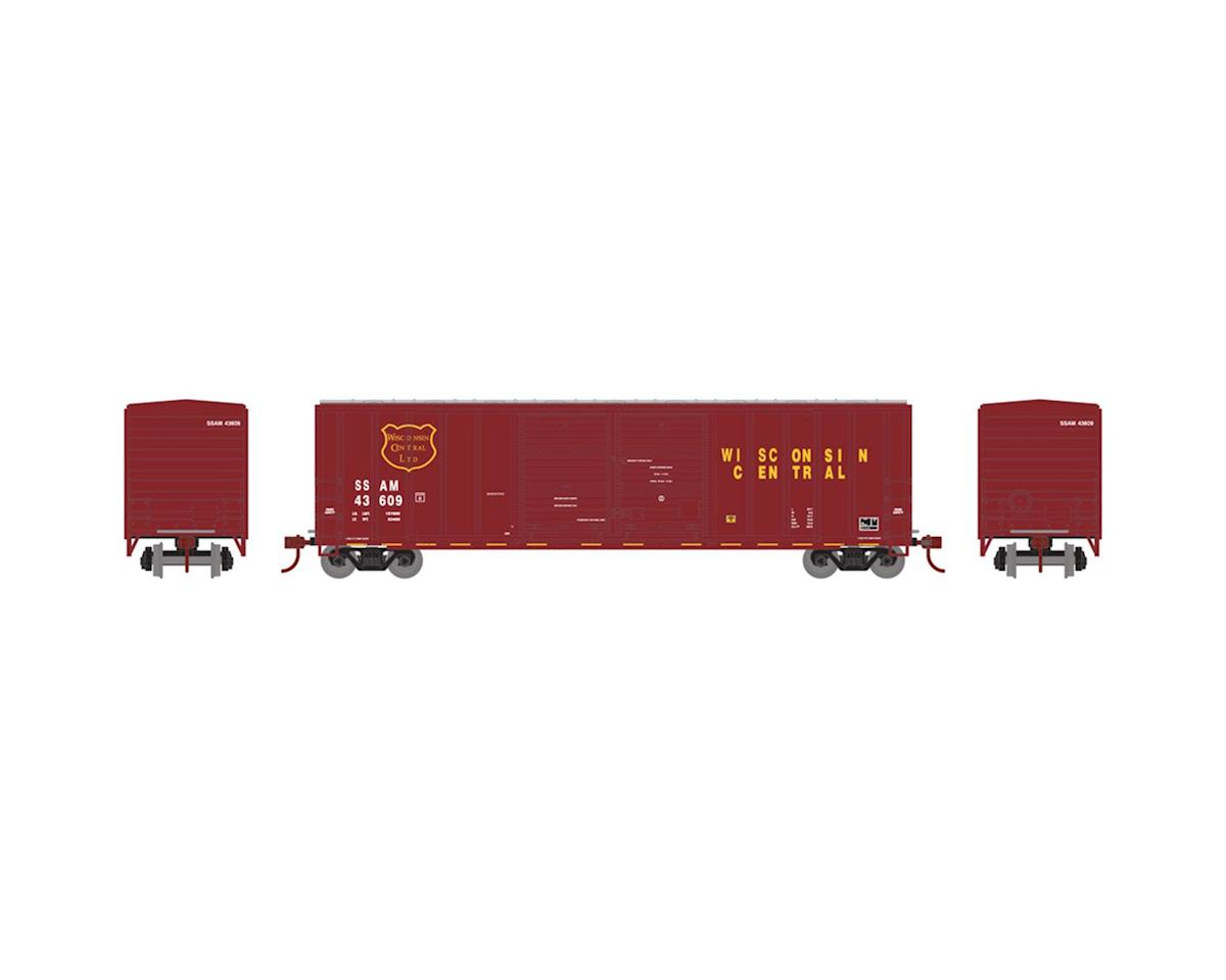 Athearn N 50' FMC Offset Double Door Box, WC #SSAM 43637