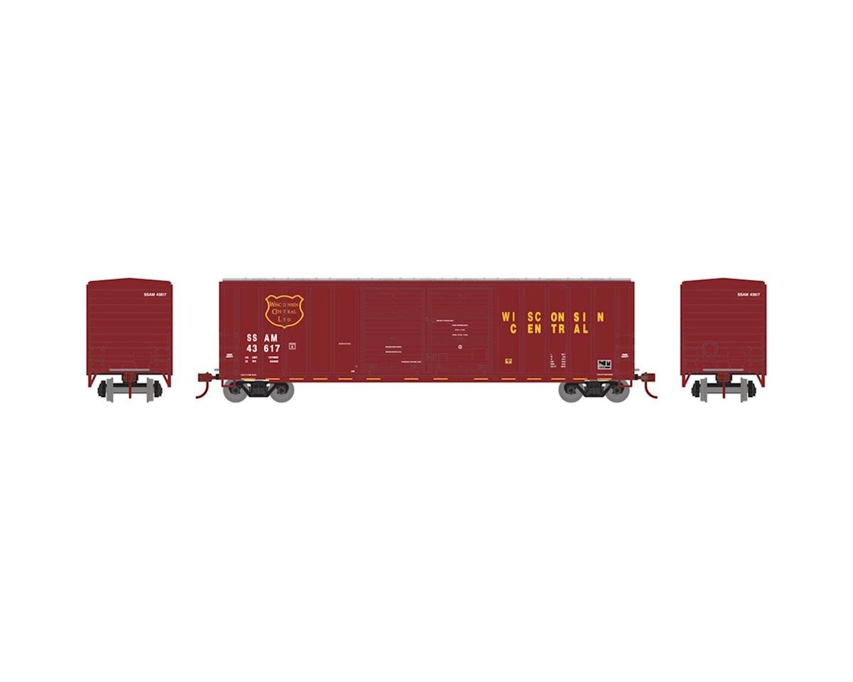 Athearn N 50' FMC Offset Double Door Box, WC #SSAM 43620