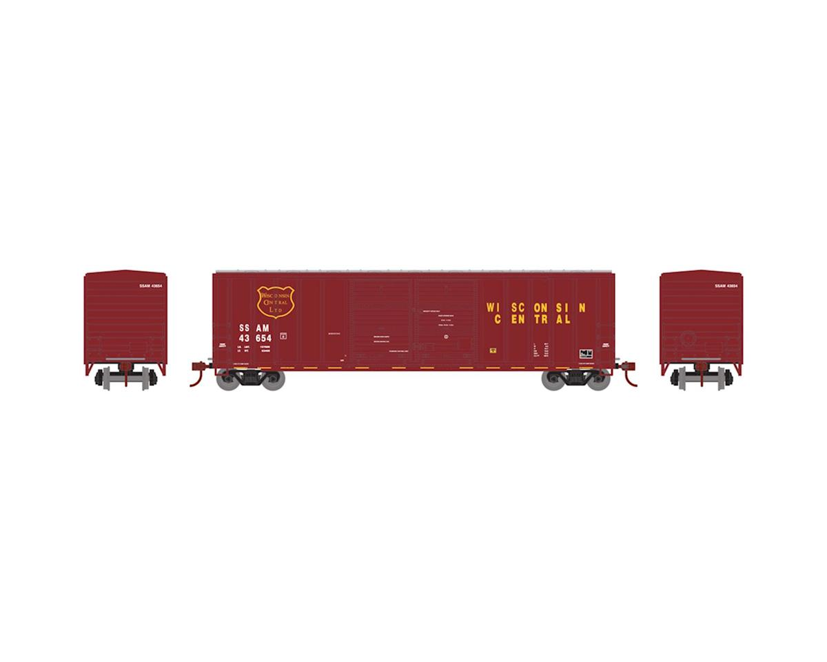 Athearn N 50' FMC Offset Double Door Box, WC #SSAM 43641