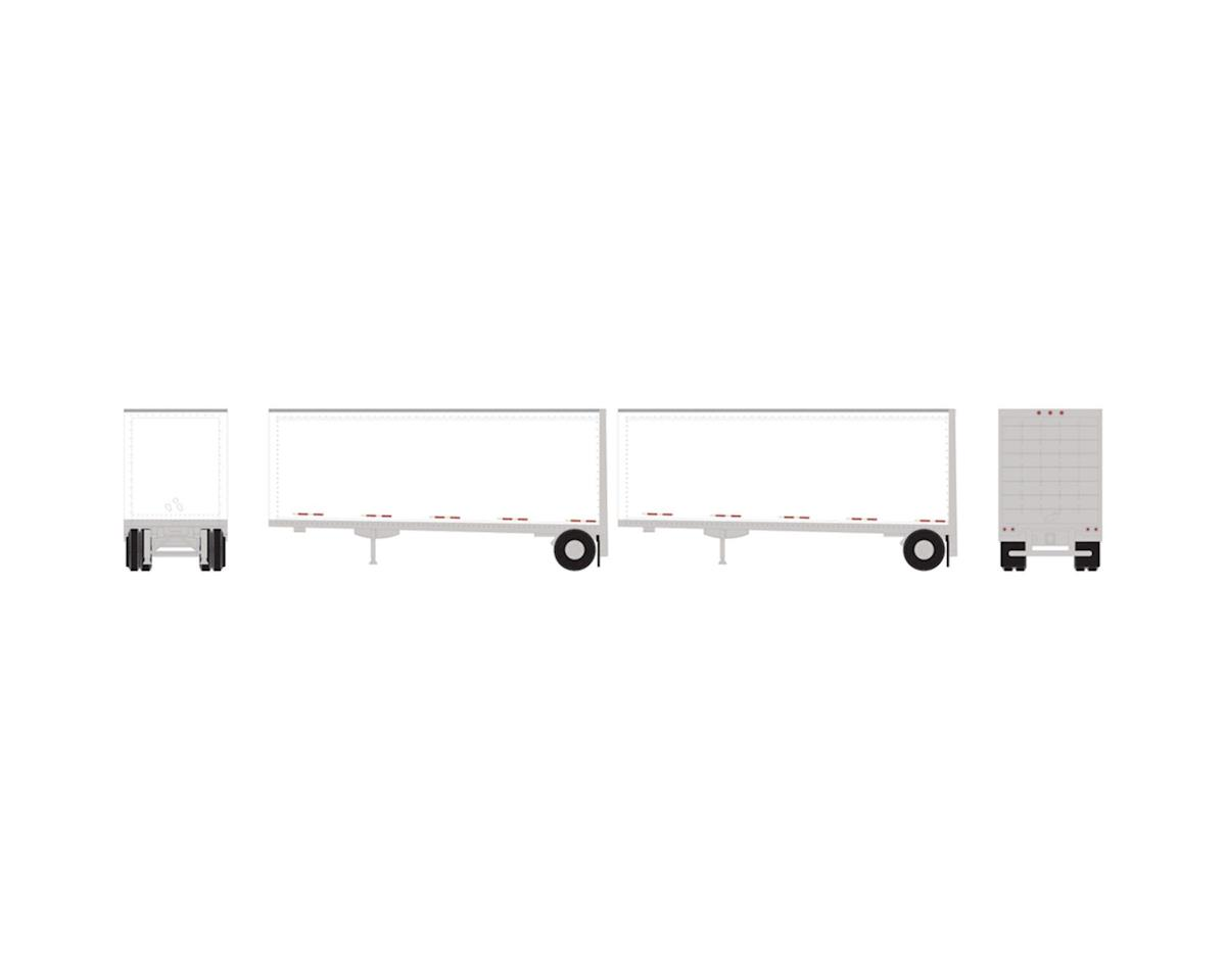 Athearn N 28' Trailers w/Dolly, Owner-Operator/Stripes (2)