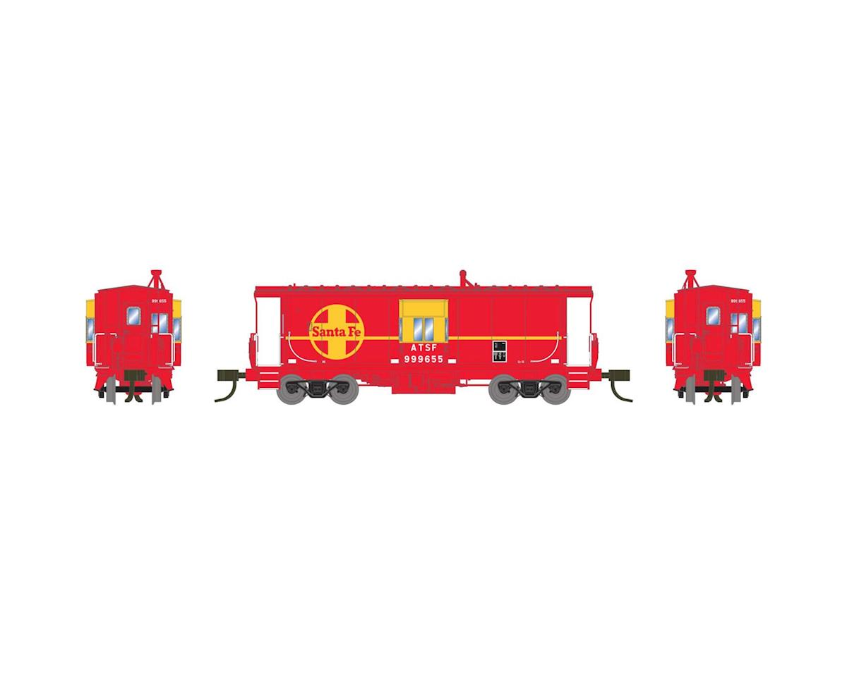 Athearn N Bay Window Caboose, SF #999655