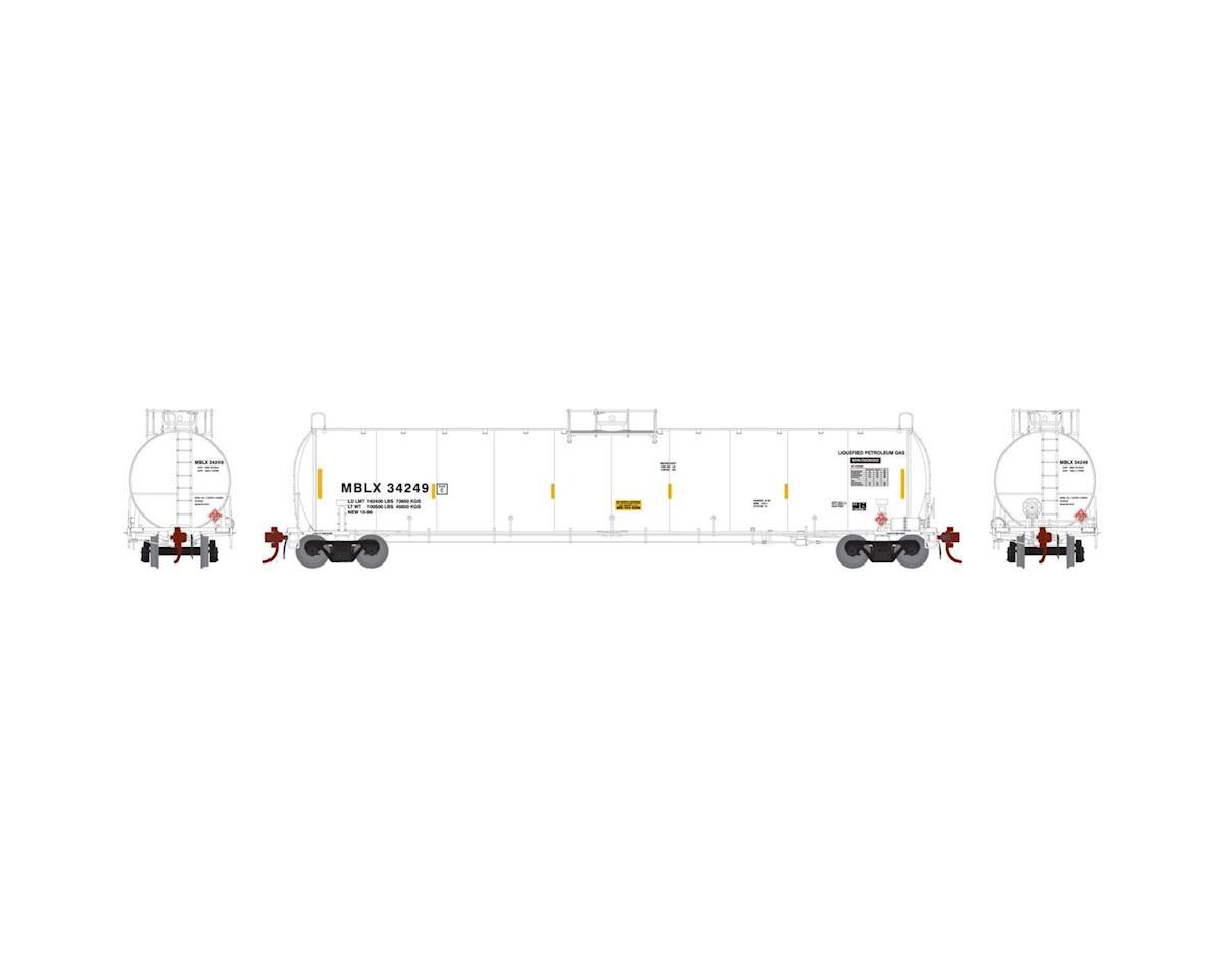 Athearn N 33,900-Gallon LPG Tank/Early, MBLX #34249