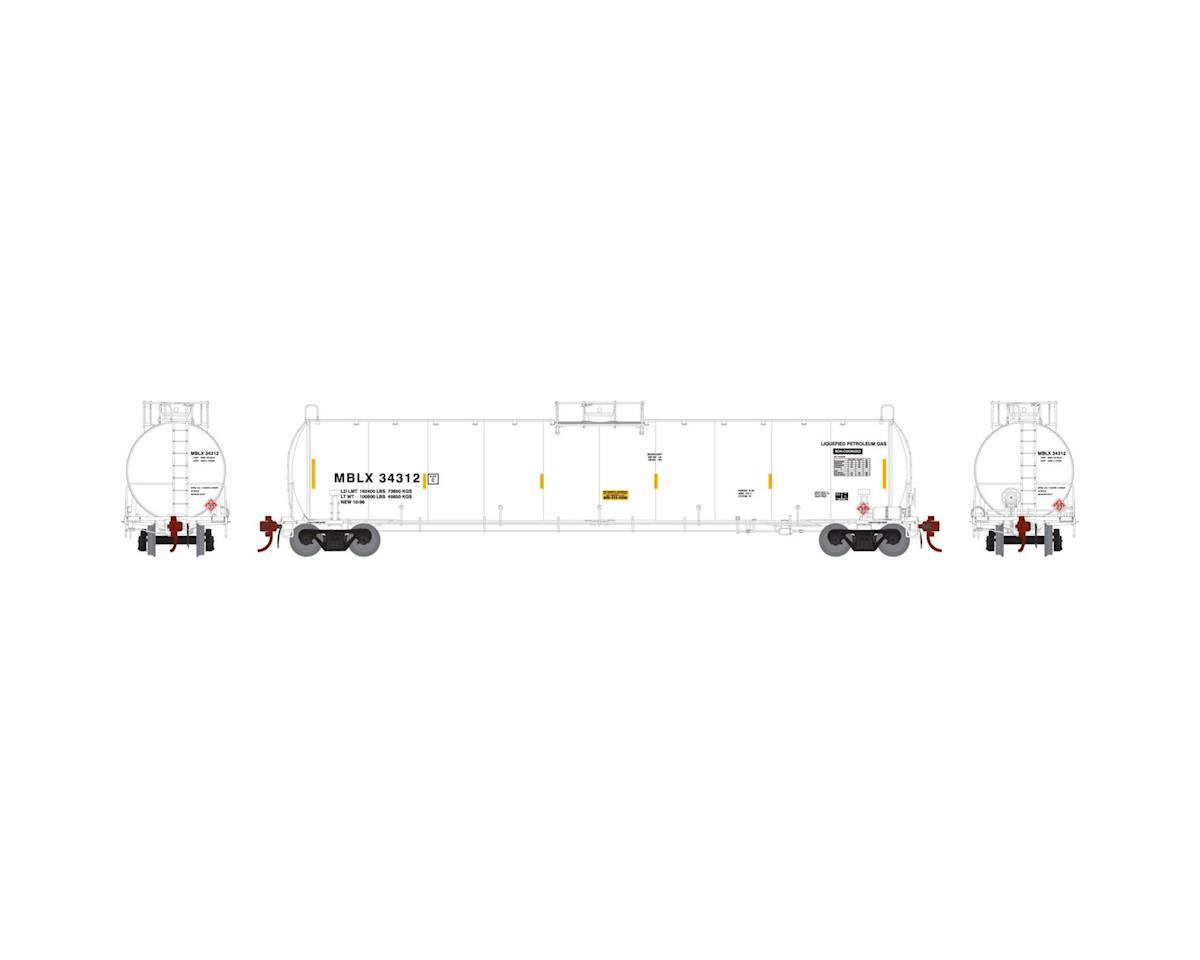 Athearn N 33,900-Gallon LPG Tank/Early, MBLX #34312