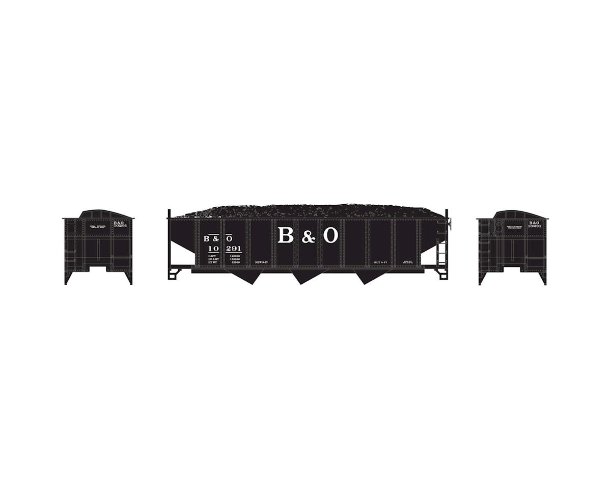 Athearn N 40' 3-Bay Ribbed Hopper w/Load, B&O #10291