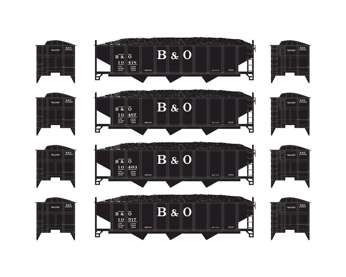 N 40' 3-Bay Ribbed Hopper w/Load, B&O #2 (4) by Athearn