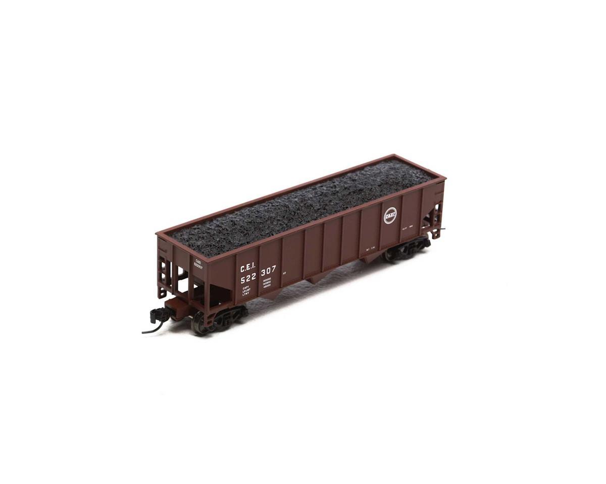 Athearn N 40' 3-Bay Ribbed Hopper w/Load, C&EI #522307