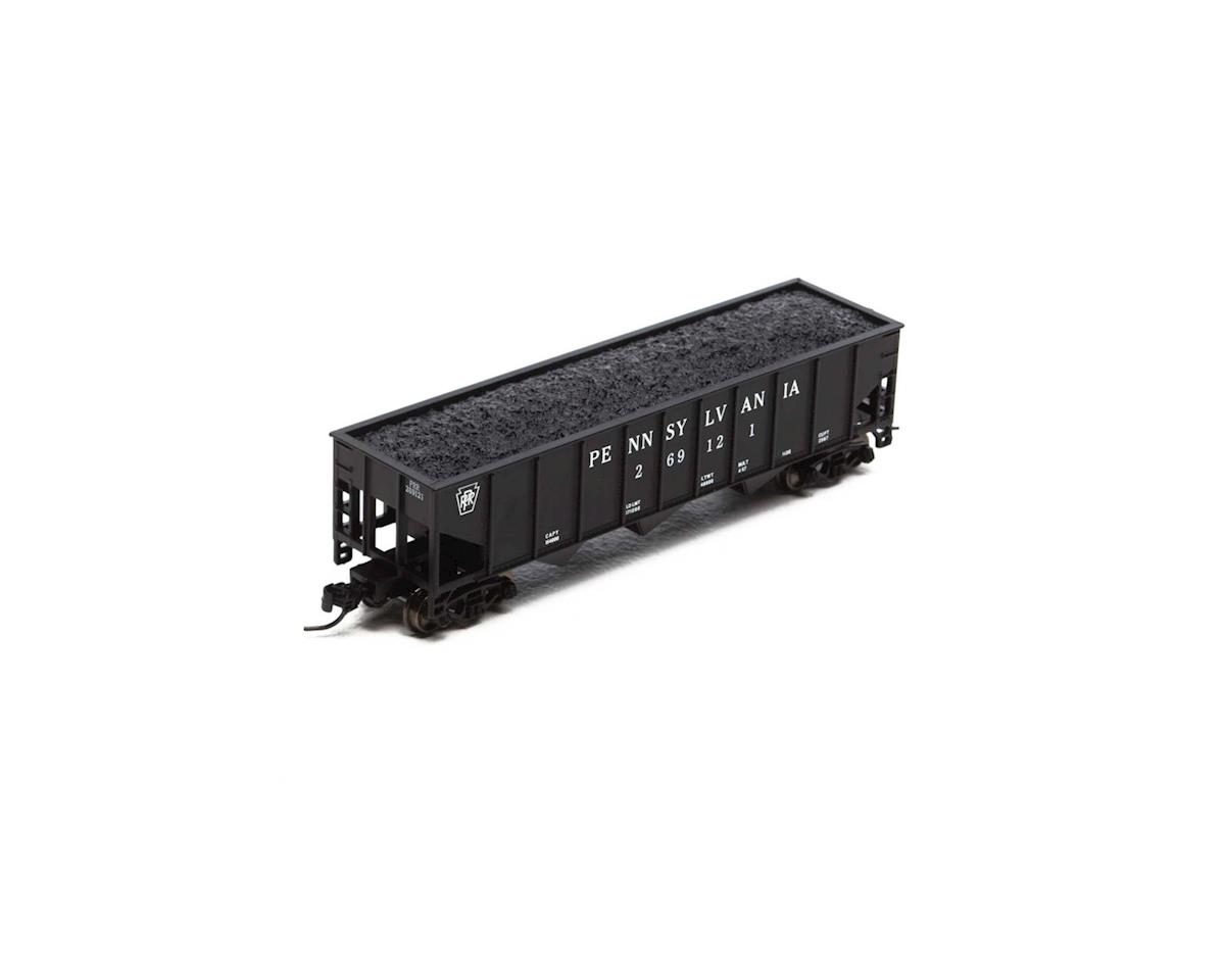 Athearn N 40' 3-Bay Ribbed Hopper w/Load, PRR #269121