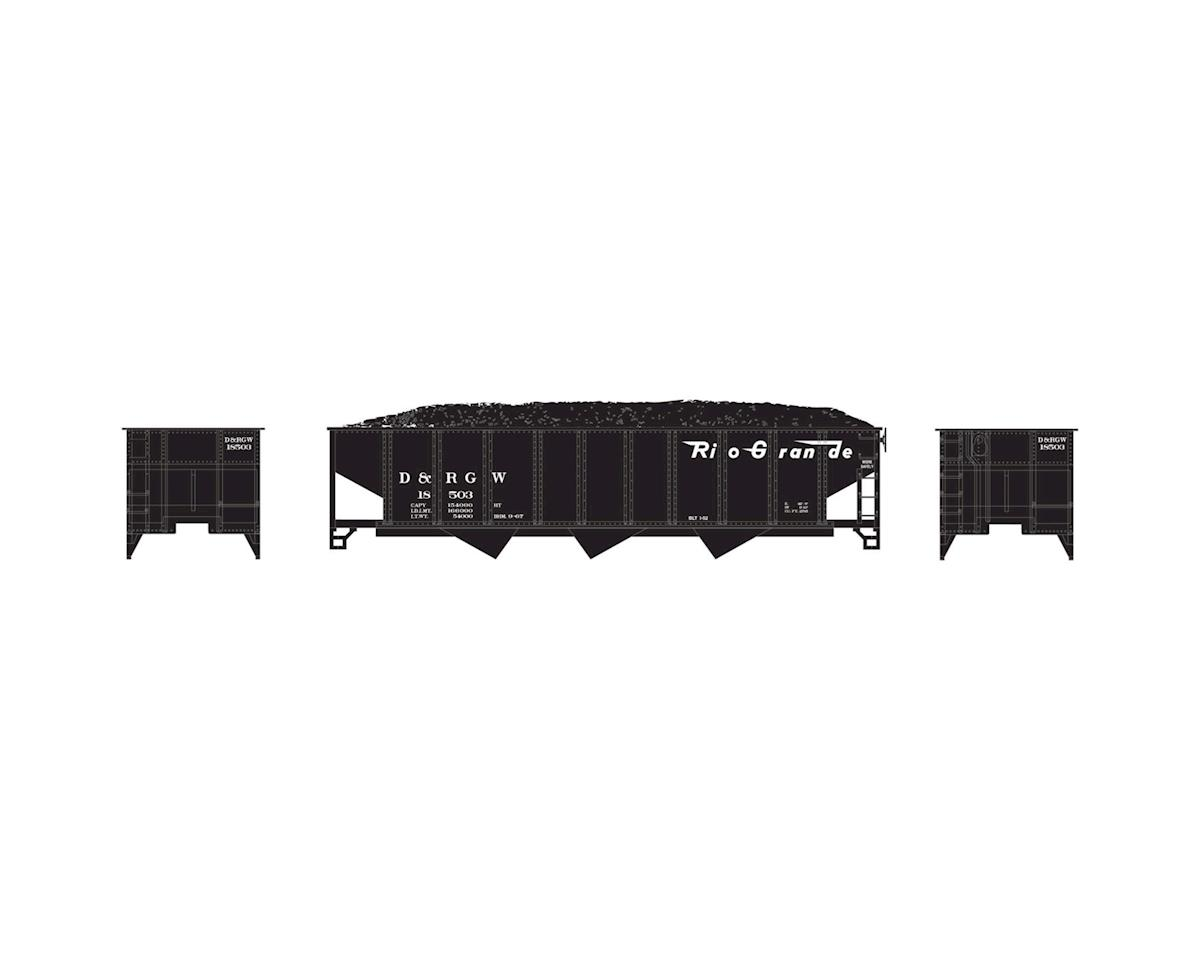 Athearn N 40' 3-Bay Ribbed Hopper w/Load, D&RGW #18503