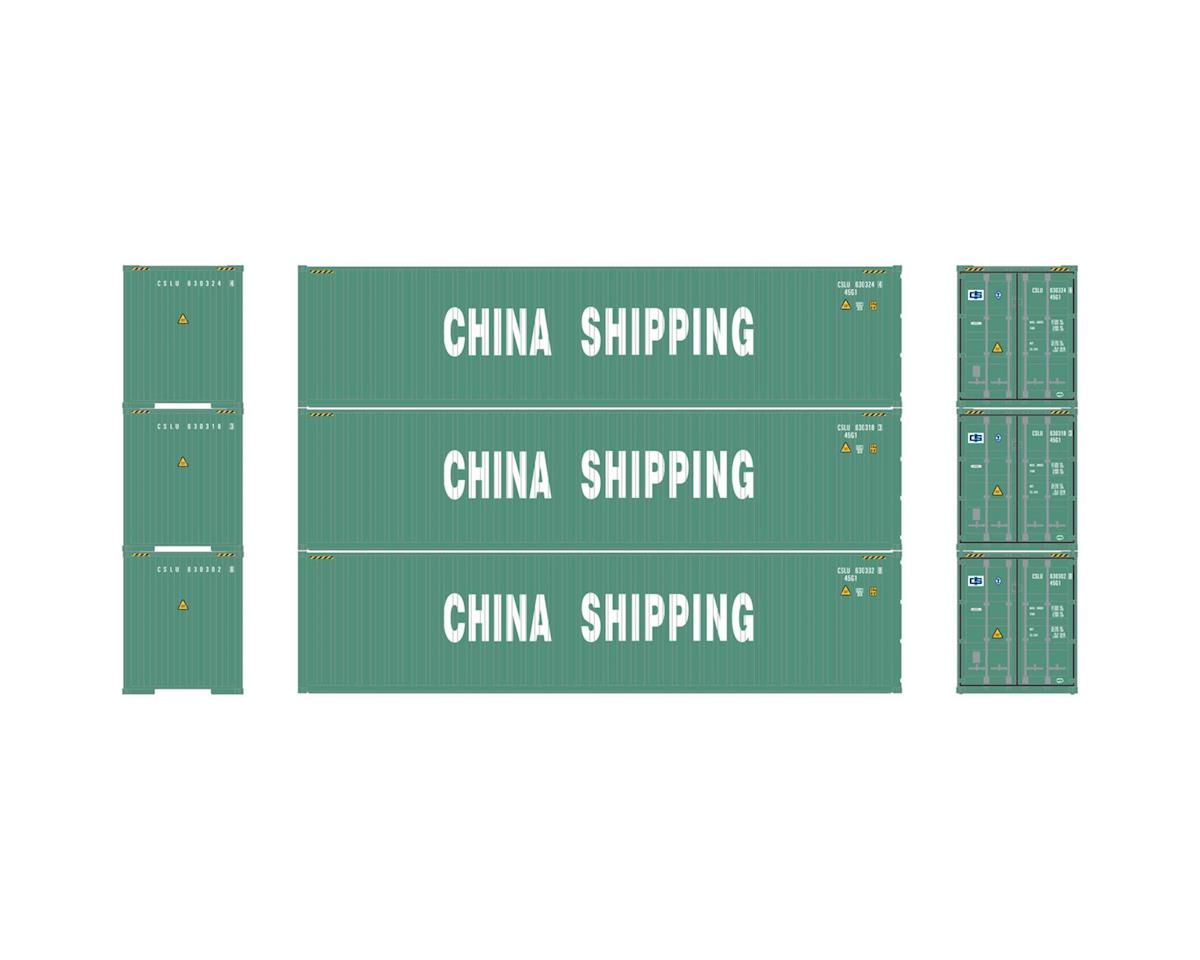 Athearn HO RTR 40' Hi-Cube Containers, China Shipping (3)